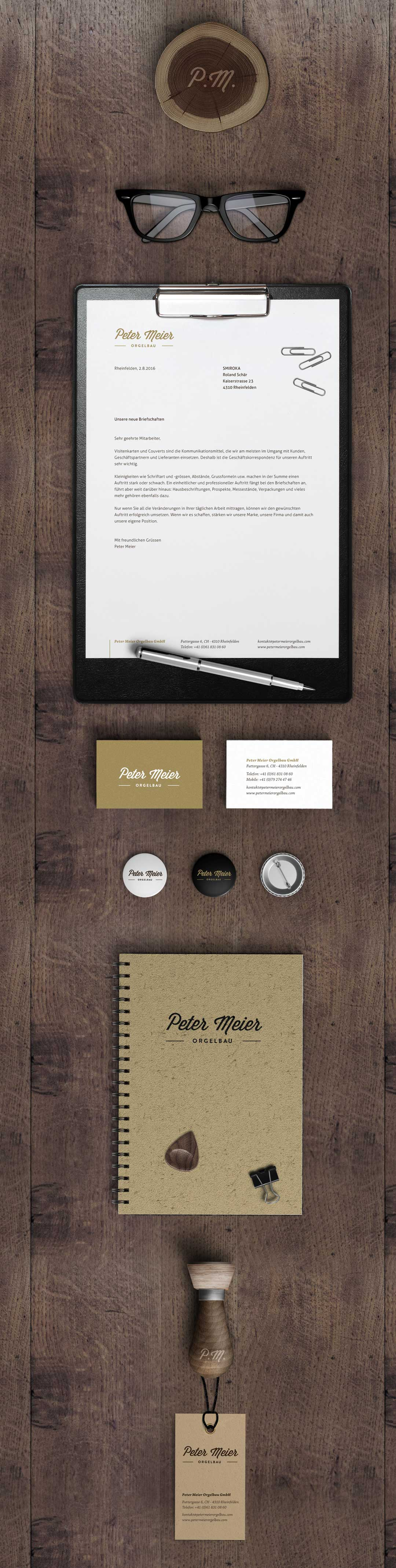 Peter Meier Orgelbau Corporate Design